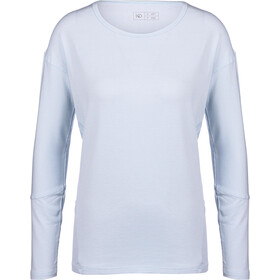 tentree Goji LS Shirt Women Skyway Blue Micro Stripe